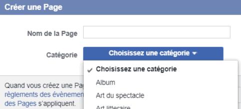 Nom de la page Facebook