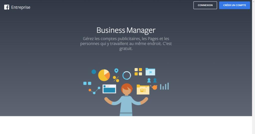 créer compte Facebook business manager