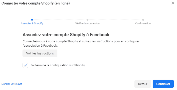 Associez son compte Shopify au Pixel Facebook