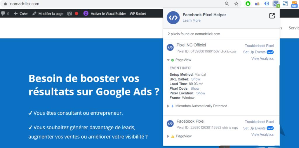 Pixel Facebook Helper Extension Google Chrome