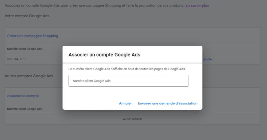 Associer un compte Google Ads