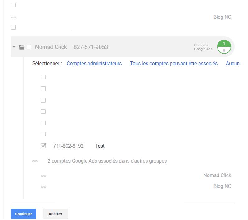 Configurer un groupe d'associations Google Ads