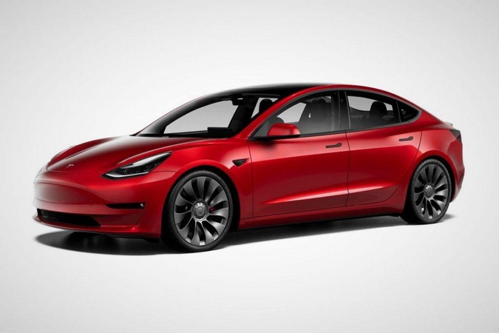 Tesla model 3 couleur rouge